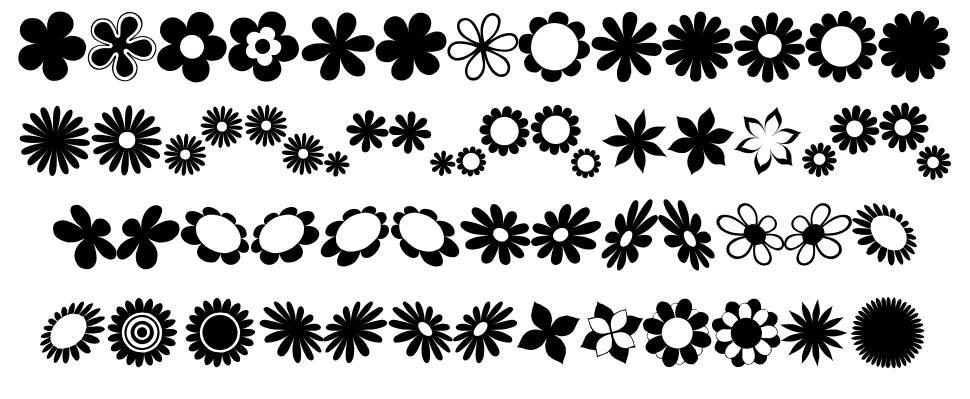 Saru's Flower Ding font