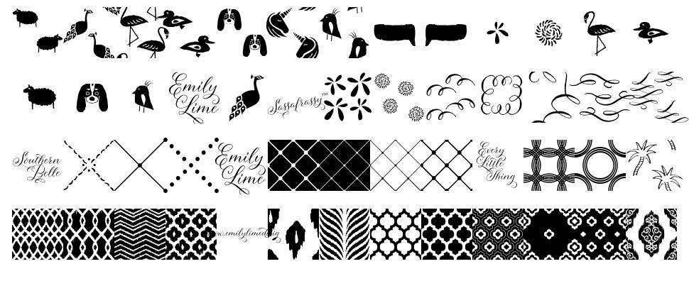 Sassafrassy Patterns font