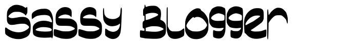 Sassy Blogger font