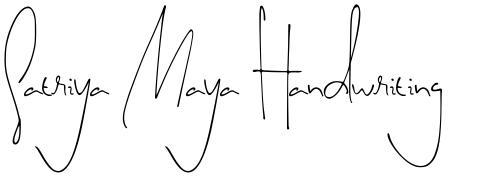Satriya Maya Handwriting
