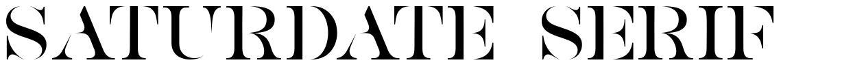 Saturdate Serif