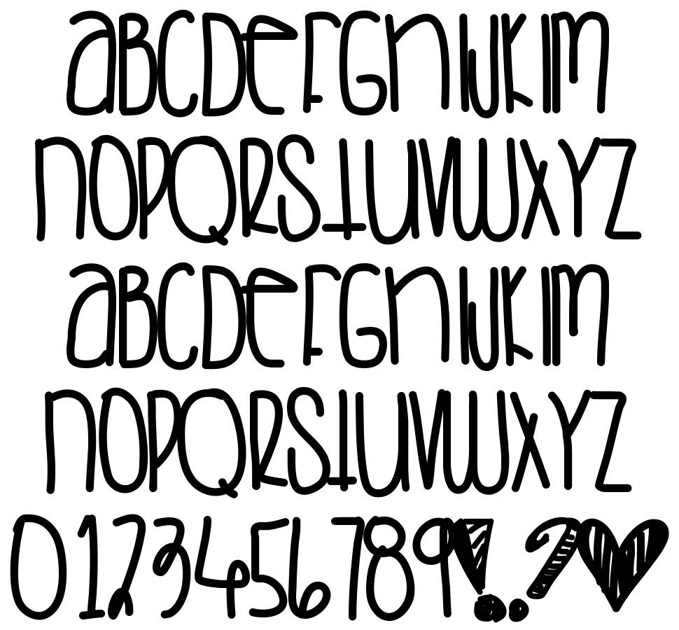 Saturday Love font