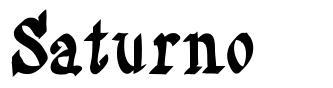 Saturno font