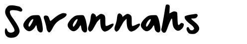 Savannahs font