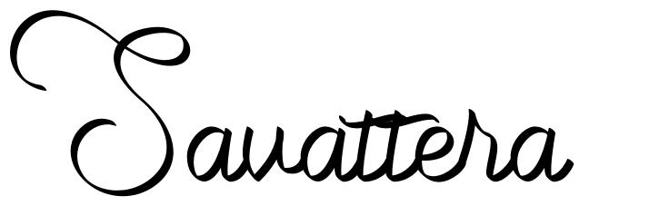 Savattera font