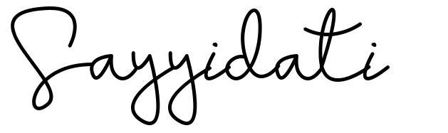 Sayyidati font