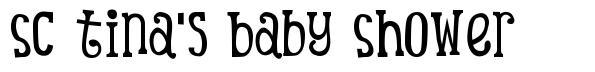 SC Tina's Baby Shower font