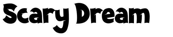 Scary Dream písmo
