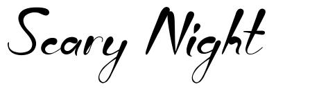 Scary Night font
