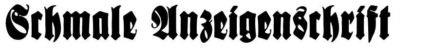 Schmale Anzeigenschrift font