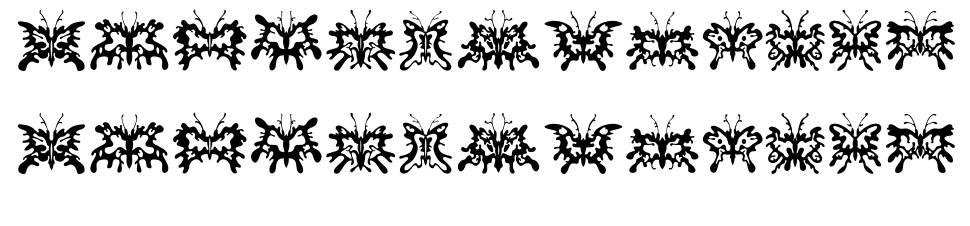 Schmetterlinge font
