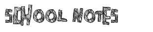 School Notes font