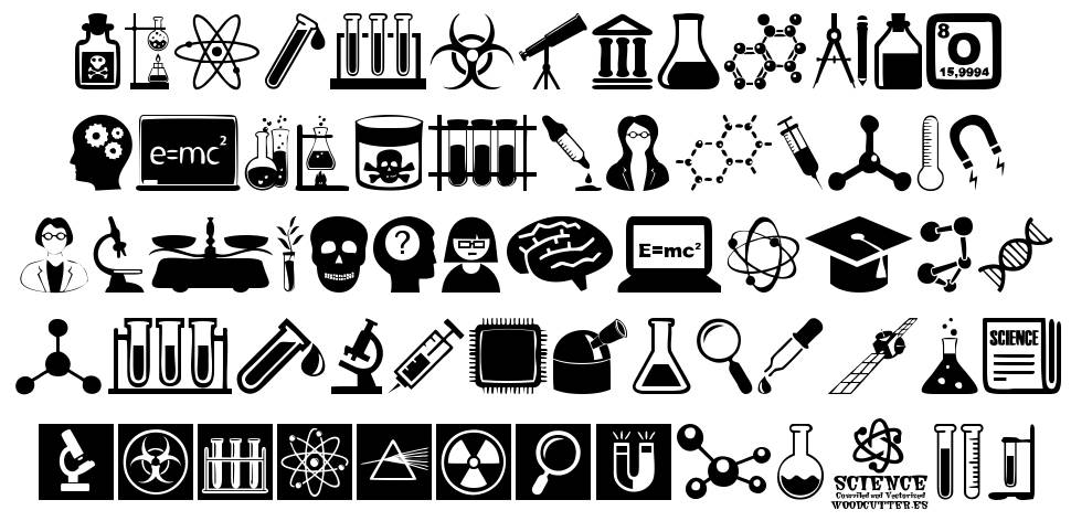 Science Icons font