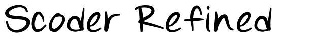 Scoder Refined font
