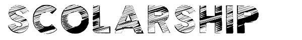Scolarship font
