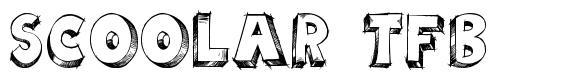 Scoolar TFB font