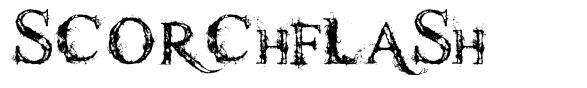 Scorchflash font
