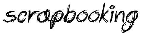 Scrapbooking font