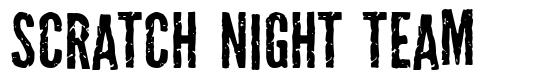 Scratch Night Team schriftart