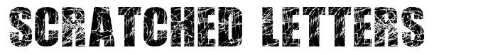 Scratched Letters font