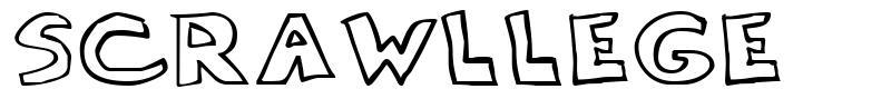 Scrawllege font