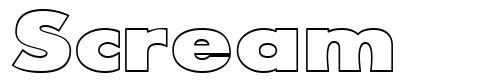 Scream font
