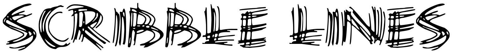 Scribble Lines font