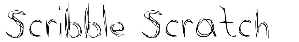 Scribble Scratch font