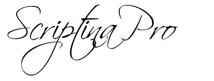 Scriptina Pro font