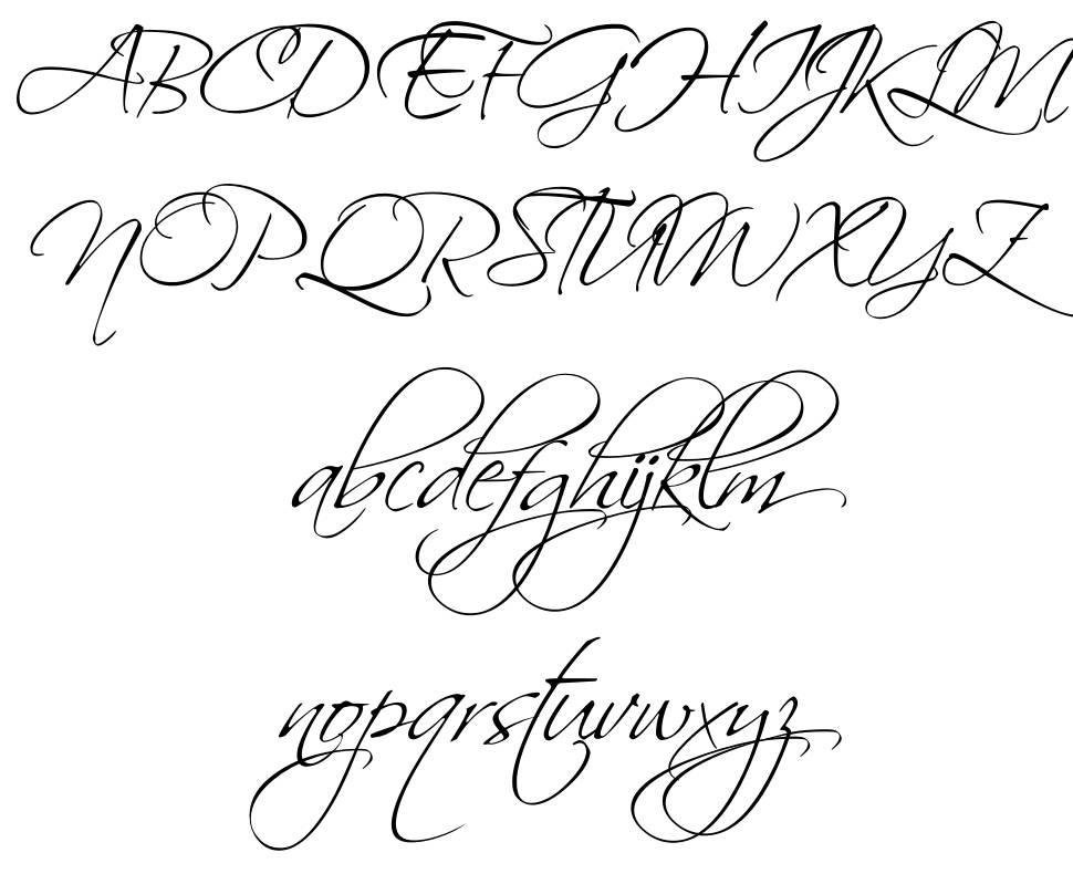 Scriptina Pro 字形