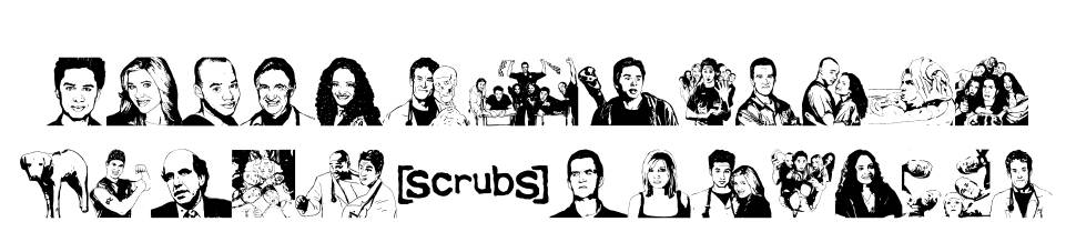 Scrubbed font