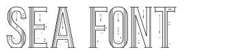 Sea Font font