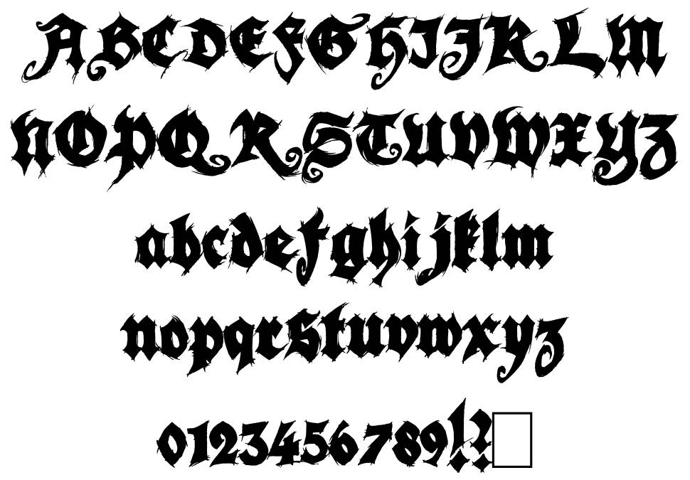 Season of the Witch Black font