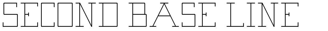 Second Base Line font