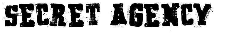 Secret Agency font