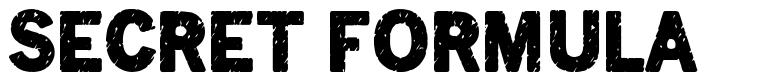 Secret Formula font