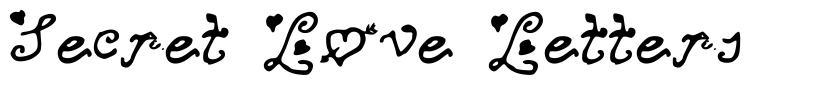 Secret Love Letters font