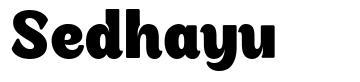 Sedhayu font