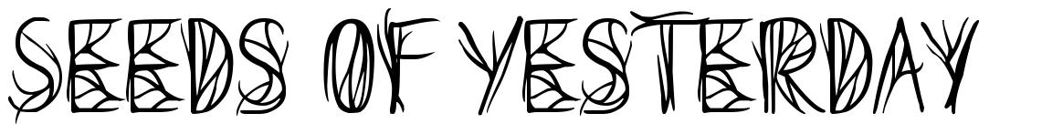 Seeds of Yesterday font