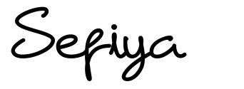 Sefiya font