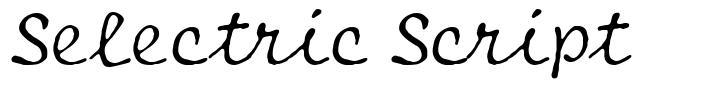 Selectric Script font