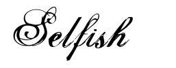 Selfish 字形