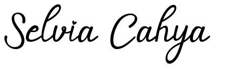 Selvia Cahya font