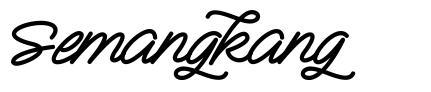 Semangkang font