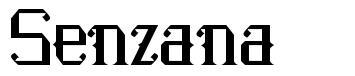 Senzana font