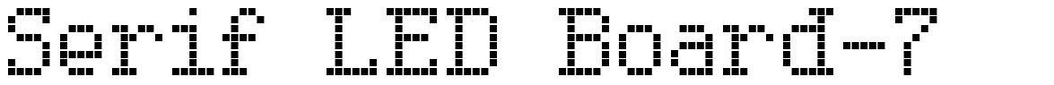 Serif LED Board-7