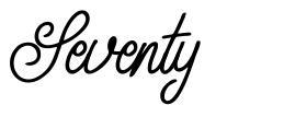Seventy font
