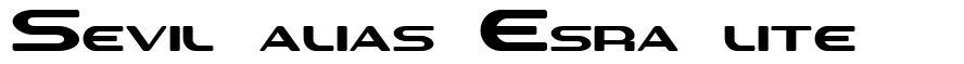 Sevil alias Esra lite font
