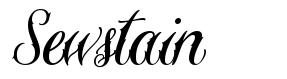 Sewstain font