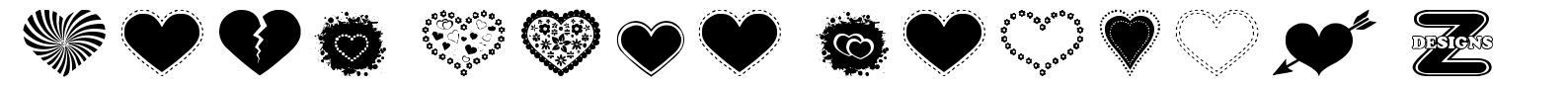 Sexy Love Hearts 2 font